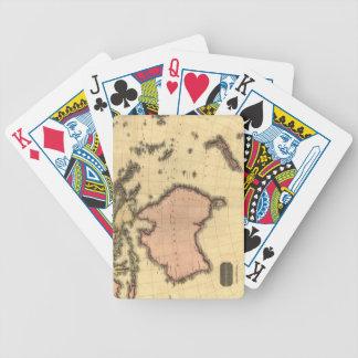 1818 Australasia Map - Australia, New Zealand Bicycle Poker Cards
