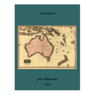 1818 Australasia  Map - Australia, New Zealand Postcards