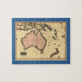 1818 Australasia Map - Australia, New Zealand Puzzle