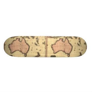 1818 Australasia Map - Australia, New Zealand Skateboards