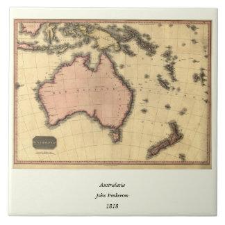 1818 Australasia Map - Australia, New Zealand Ceramic Tile