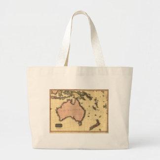 1818 Australasia  Map - Australia, New Zealand Jumbo Tote Bag