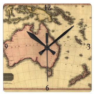 1818 Australasia Map - Australia, New Zealand Wall Clock