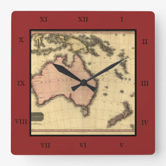 1818 Australasia Map - Australia, New Zealand Wallclock