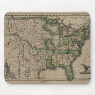 1823 US Map Mouse Pad