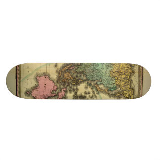 1825 Map of Asia by Henry Tanner Skate Board Decks