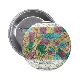 1829 Pennsylvania Map Pin