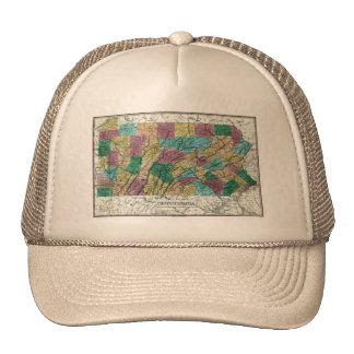 1829 Pennsylvania Map Trucker Hat