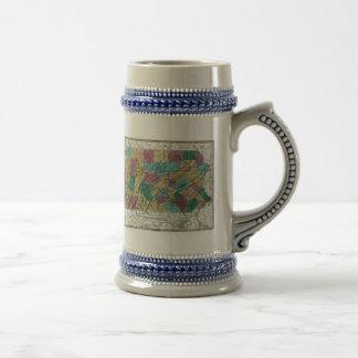 1829 Pennsylvania Map Coffee Mug