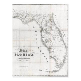 1837 Florida Map Postcard
