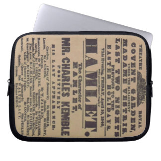 1840 Hamlet poster vintage theatre drama Laptop Sleeve