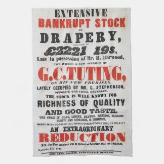1840s Handbill-style Tea Towel