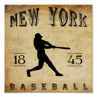 1845 New York City New York Baseball Poster