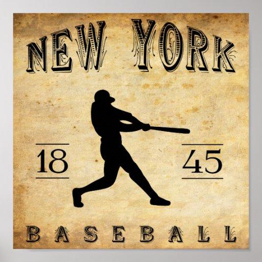 1845 New York City New York Baseball Print
