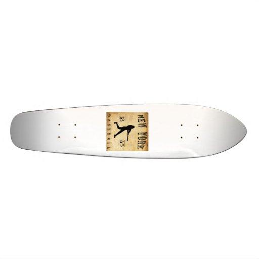 1845 New York City New York Baseball Skate Board Deck