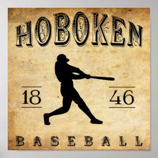 1846 Hoboken New Jersey Baseball Poster