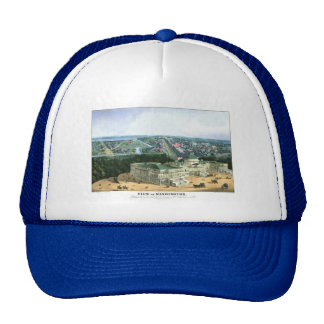 1852 Color Lithograph - View of Washington Trucker Hat