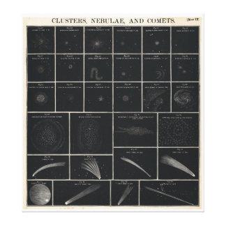 1856 Burritt's Atlas Huntington Chart of Comets Canvas Prints