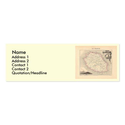 1858 Map - Ile Bourbon (La Reunion) - France Business Card