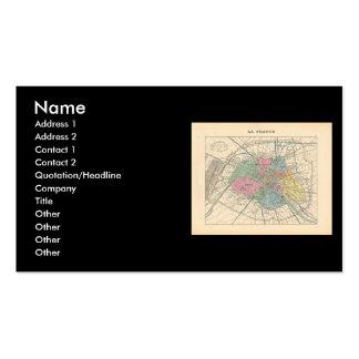1858 Map Paris et son Mur d'Enceinte - France Pack Of Standard Business Cards