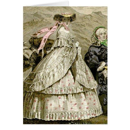 1859 Fashions Greeting Card