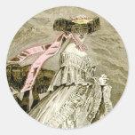 1859 Fashions Round Stickers