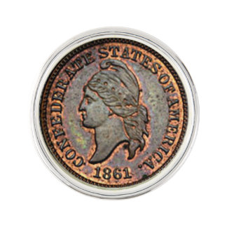 1861 Civil War USA Penny Lapel Pin