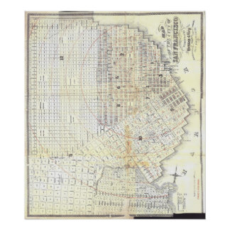1862 Map of San Francisco Posters
