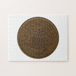 1864 2-Cent Piece Puzzles