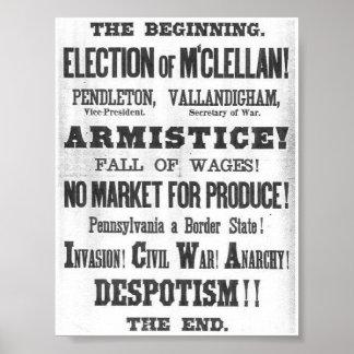 1864 Election Broadside Poster