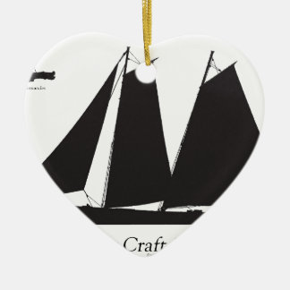 1864 Pilot Craft - tony fernandes Ceramic Ornament