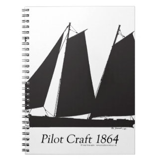 1864 Pilot Craft - tony fernandes Spiral Note Book