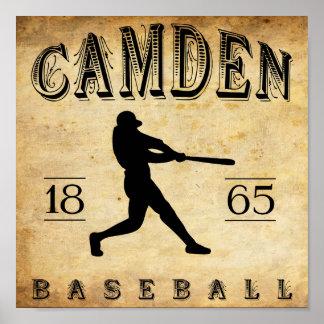 1865 Camden New Jersey Baseball Poster