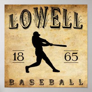 1865 Lowell Massachusetts Baseball Print