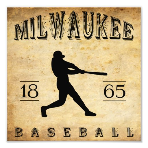 1865 Milwaukee Wisconsin Baseball Photo Art