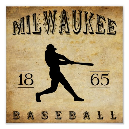 1865 Milwaukee Wisconsin Baseball Print