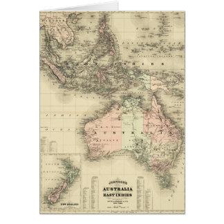 1867 Australia and East Indies Vintage Map Card