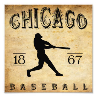 1867 Chicago Illinois Baseball Photographic Print