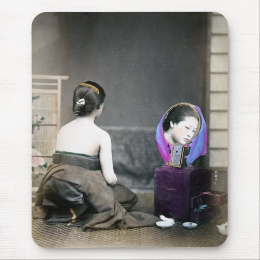 1870 Japanese Woman in Dressing Room Mouse Pad