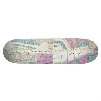 1870 Map New York City Central Park 21.6 Cm Old School Skateboard Deck