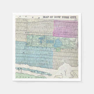 1870 Map New York City Central Park Disposable Napkin