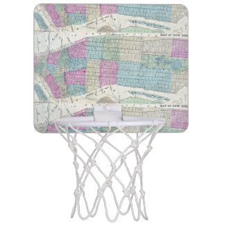 1870 Map New York City Central Park Mini Basketball Hoop