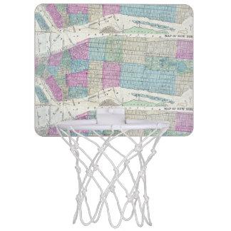 1870 Map New York City Central Park Mini Basketball Hoop