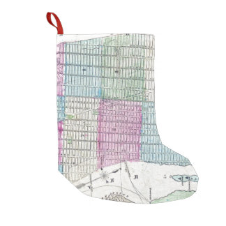 1870 Map New York City Central Park Small Christmas Stocking