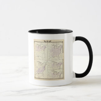 1870 United States census maps Mug