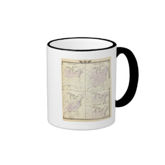 1870 United States census maps Coffee Mug
