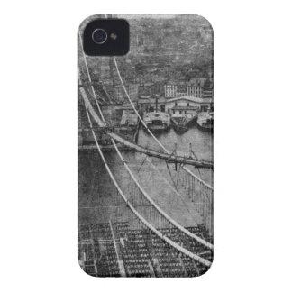 1870s New York City Brooklyn Bridge Construction Case-Mate iPhone 4 Case