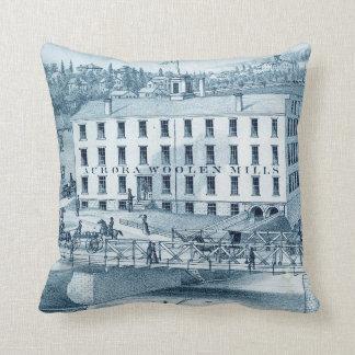 1871 Aurora Illinois Woolen Mills Cushion