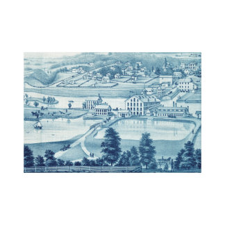 1871 Birds Eye View Carpentersville Illinois Canvas Print