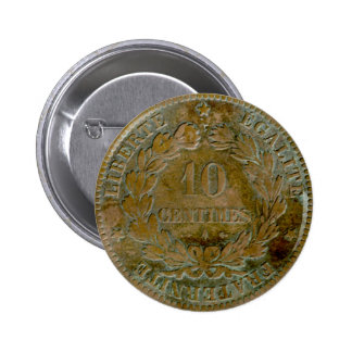 1871 French 10 centime (reverse) button